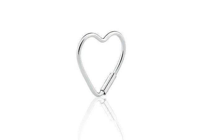 Piercing de Coração Prata 925