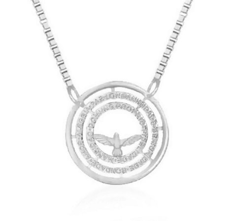Colar Mandala Sete Dons do Espírito Santo Prata 925