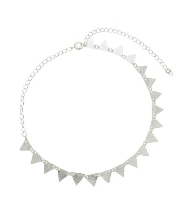 Colar Choker Triângulo Chapa Prata 925