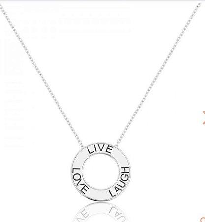 Colar Mandala Personalizado com Três Nomes Prata 925