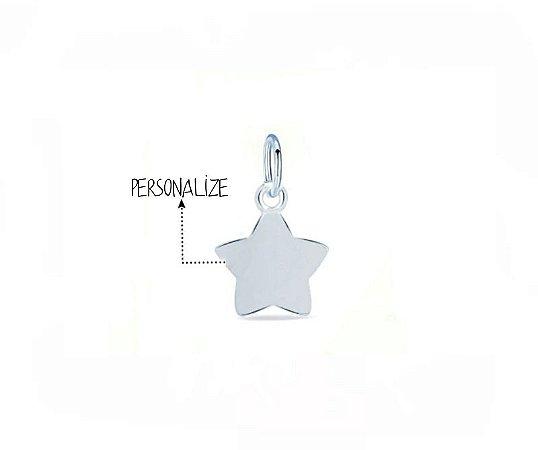 Pingente Estrela Personalizado 7mm Prata 925