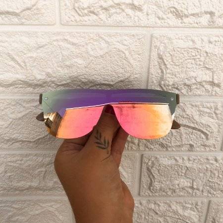 Óculos Flat Pink Espelhado