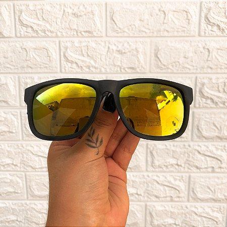 Óculos Sam Amarelo Espelhado