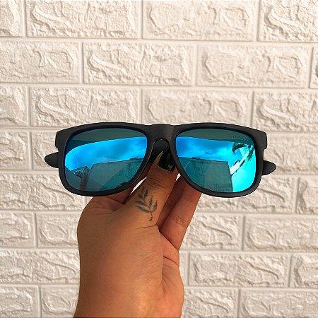 Óculos Jhon Azul Espelhado
