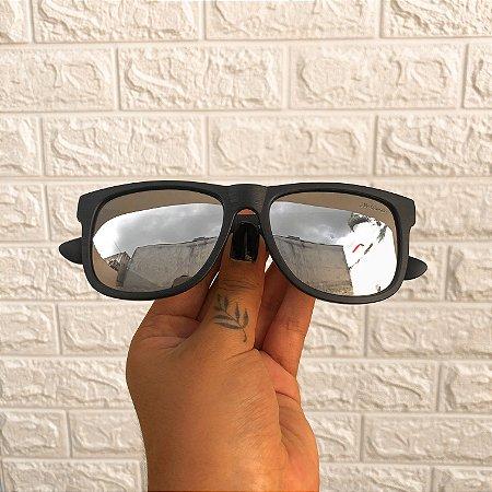 Óculos Jhon Prata Espelhado