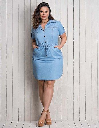 e33120fc83de Vestido Jeans Plus size - Moda Plus Size Online | Moda Plus Size ...