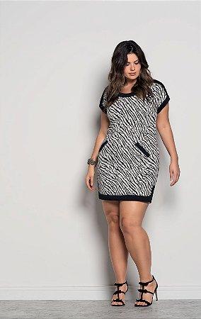 2363dccf94 vestido zebra Plus Size - Três Oliveiras Moda Plus Size