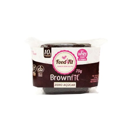 Brownie Fit Low Carb sem açúcar (70g) - Food4fit