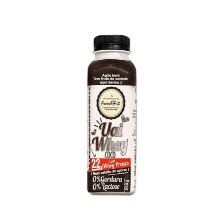 Iogurte Uai Whey Protein Coco / 22g Proteína (250g) - Food4fit (Entregue somente na Capital de São Paulo)