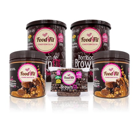 Combo Amor em Pasta - Food4fit (Frete Grátis Centro - SP + 1 BrownFit 70g grátis)