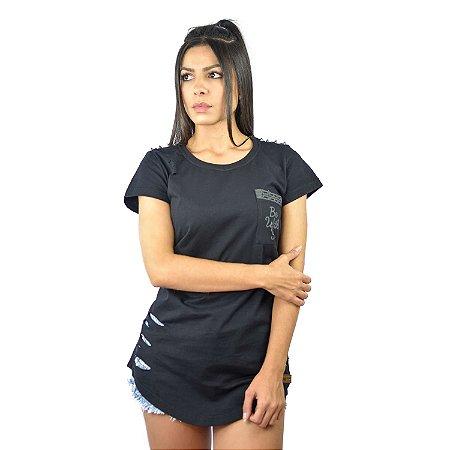 "Camiseta Feminina Destroyed ""Be With You"" - Fabio Fusco"