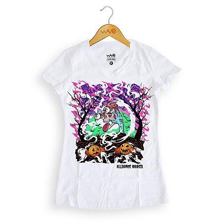 Camiseta Feminina Edição Halloween - Alliance Brasil (Pré-venda)