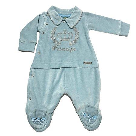 bbc8a532a2 Macacão de Bebê Azul - Sereia Kids