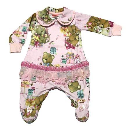 32add53fbe Macacão de Bebê Rosa - Sereia Kids