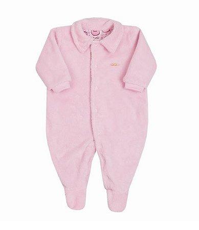 Macacão Bebê Menino Rosa Plush Urso Paraiso