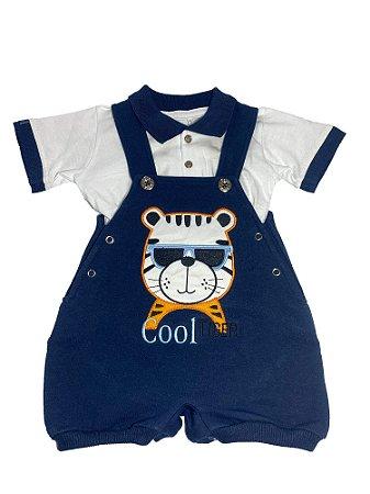Macacão Bebê Menino Banho de Sol com Camiseta Tigre Lessa Kids