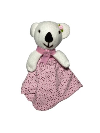 Naninha Bebê Urso Rosa Lessa Kids