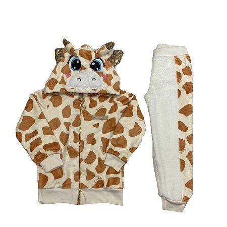 Conjunto Menina Girafa Plush Lessa Kids