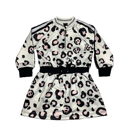 Vestido Bebê Menina Estampado Oncinha Lessa Kids
