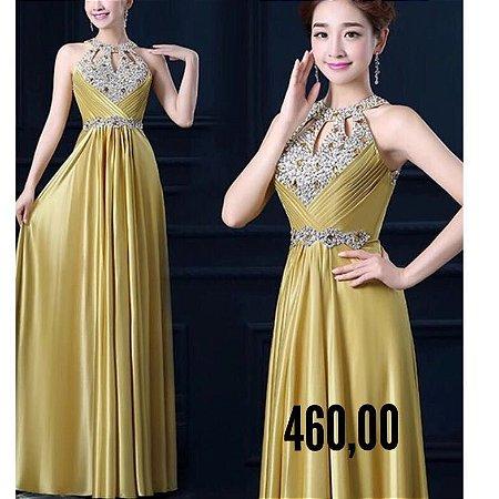 Vestido de festa gold party