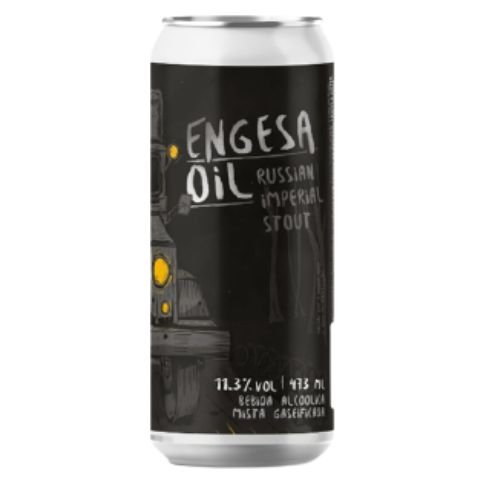 Cerveja Salvador Brewing Co Engesa Oil Russian Imperial Stout Lata - 473ml