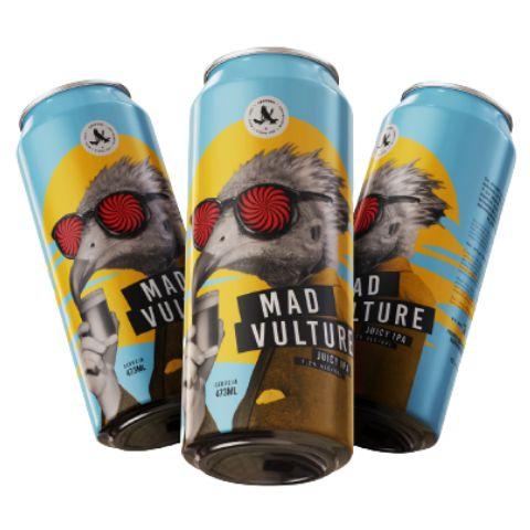 Cerveja Abutres Mad Vulture Juicy IPA Lata - 473ml