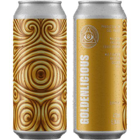 Cerveja Dogma Goldenlicious British Golden Ale Lata - 473ml