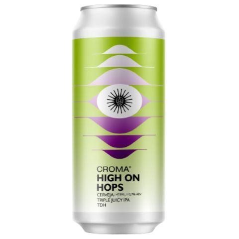 Cerveja Croma High On Hops Triple Juicy IPA Lata - 473ml