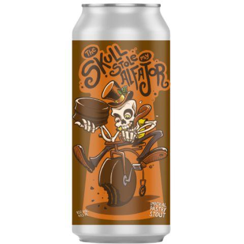 Cerveja Vintage Craft Beer + Guitera Brewers The Skull Stole My Alfajor Imperial Pastry Stout C/ Alfajor e Doce de Leite Lata - 473ml