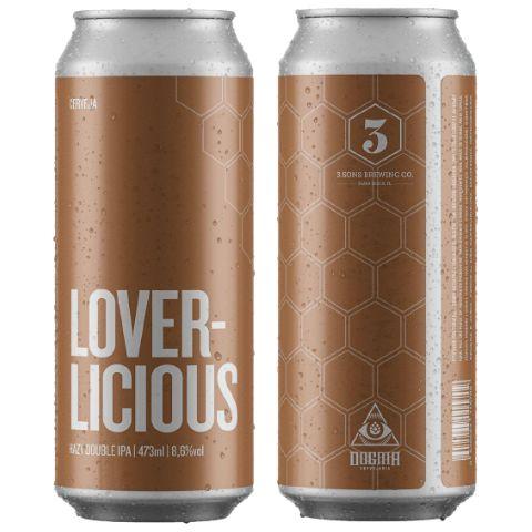 Cerveja Dogma + 3 Sons Lover-Licious Hazy Double IPA Lata - 473ml