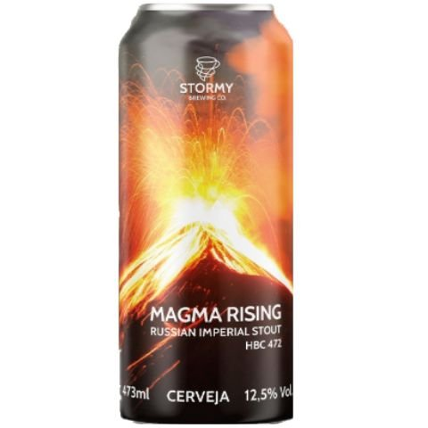 Cerveja Stormy Brewing Co Magma Rising Russian Imperial Stout Lata - 473ml