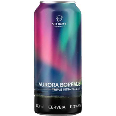 Cerveja Stormy Brewing Co Aurora Borealis Triple India Pale Ale Lata - 473ml