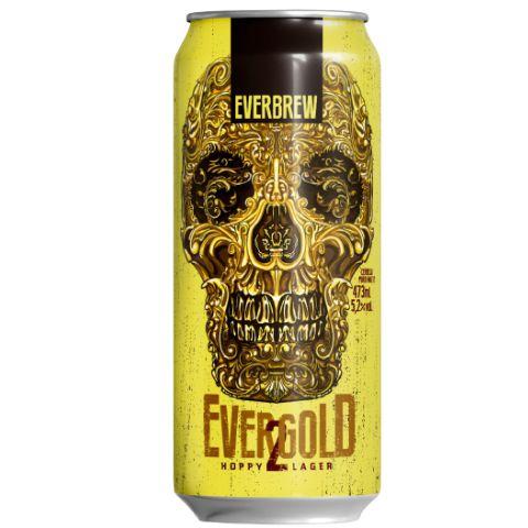 Cerveja EverBrew EverGold 2 Hoppy Lager Lata - 473ml