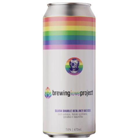 Cerveja Escafandrista Brewing Love Project Slush Double Berliner Weisse C/ Amora, Goiaba, Limão Siciliano e Baunilha Lata - 473ml
