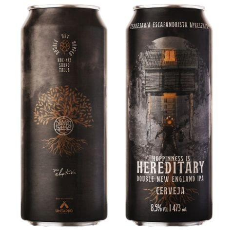 Cerveja Escafandrista Hereditary Double New England IPA Lata - 473ml