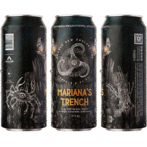 Cerveja Escafandrista Mariana's Trench Double New England IPA C/ Café, Coco e Espirais de Maple e Carvalho Americano Lata - 473ml