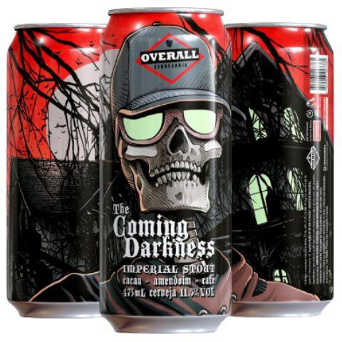 Cerveja Overall The Coming Darkness Imperial Stout C/ Cacau, Amendoim e Café Whisky Barrel Aged Lata - 473ml