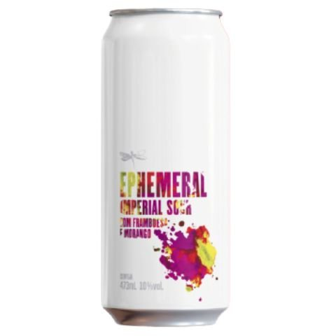 Cerveja Dádiva Ephemeral Framboesa + Morango Imperial Sour C/ Framboesa, Morango, Lactose e Baunilha Lata - 473ml