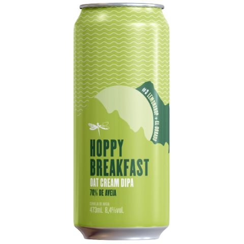 Cerveja Dádiva Hoppy Breakfast #3 Oat Cream Double IPA Lata - 473ml