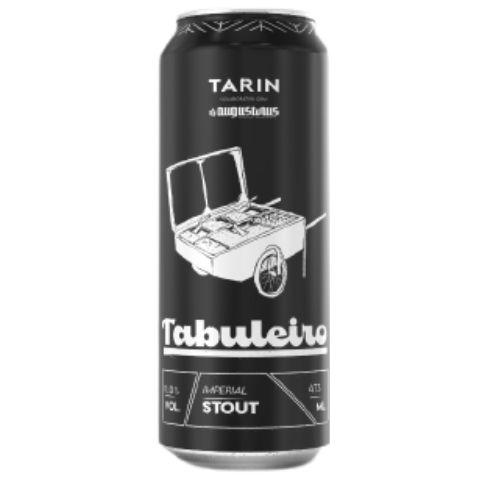 Cerveja Tarin + Augustinus Tabuleiro Russian Imperial Stout C/ Coco e Pimenta Habanero Lata - 473ml