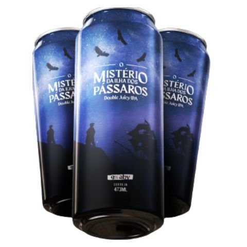 Cerveja Abutres + Under Tap O Mistério da Ilha dos Pássaros Double Juicy IPA Lata - 473ml