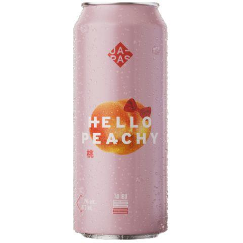 Cerveja Japas Hello Peachy New England IPA C/ Pêssego Lata - 473ml