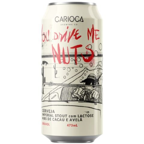 Cerveja Carioca Brewing Co You Drive Me Nuts Imperial Pastry Stout C/ Cacau, Avelã e Lactose Lata - 473ml