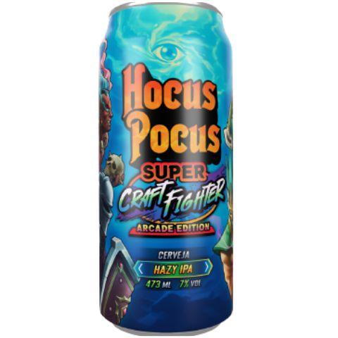 Cerveja Hocus Pocus Super Craft Figther Arcade Edition Hazy IPA Lata - 473ml