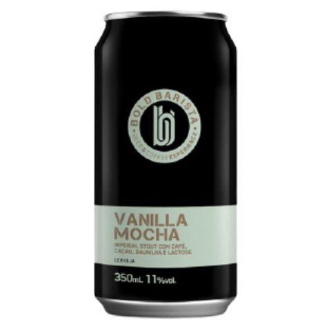 Cerveja Bold Brewing Bold Barista Vanilla Mocha Imperial Stout C/ Café, Cacau, Baunilha e Lactose Lata - 350ml