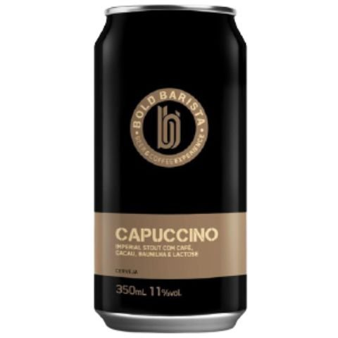 Cerveja Bold Brewing Bold Barista Capuccino Imperial Stout C/ Café, Cacau, Baunilha, Canela e Lactose Lata - 350ml