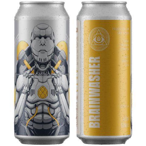 Cerveja Dogma Brainwasher Hazy Double IPA Lata - 473ml