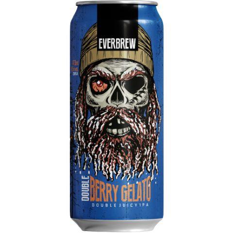 Cerveja EverBrew Double Berry Gelato Double Juicy IPA C/ Terpenos Lata - 473ml