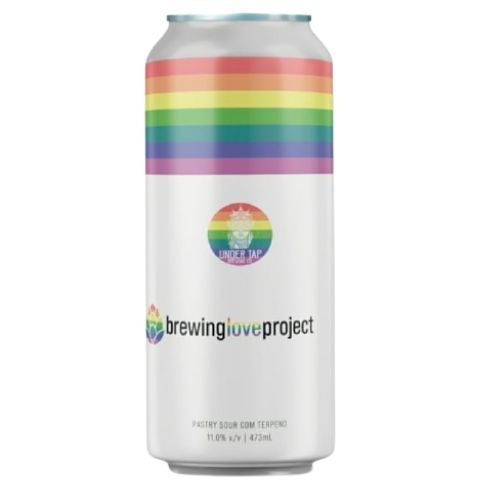 Cerveja Under Tap Brewing Love Project Imperial Pastry Sour C/ Terpenos, Amora, Blueberry e Baunilha Lata - 473ml