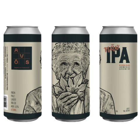 Cerveja Avós Não IPA #1 Dona Olga India Pale Lager Lata - 473ml
